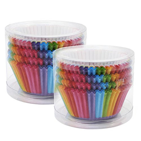 Ocrpaper Baking Cups Cake Liners Cupcake Muffin Cake Wrappers 200Pcs(Rainbow-1)