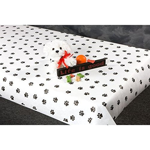 300 Foot Paw Print Paper Table Cover