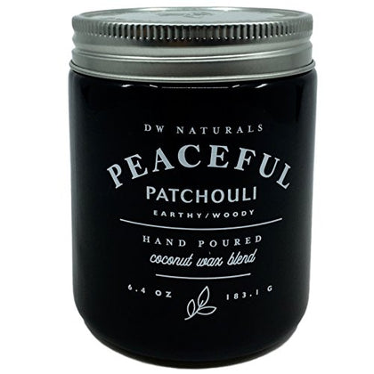 Dw Naturals Peaceful Patchouli Scented Candle Coconut Wax Blend