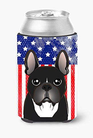 Caroline'S Treasures Bb2157Cc American Flag And French Bulldog Can Or Bottle Hugger, Multicolor