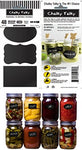 Chalky Talky Variety Mason Chalkboard Labels, 48 Reusable Labels For Jars - Erasable & Waterproof