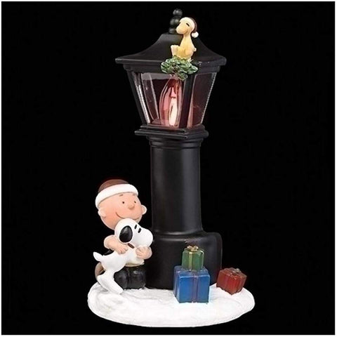 The Peanuts Charlie Brown And Snoopy Flicker Night Light, 8 1/4 Inch