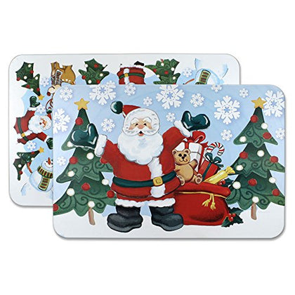 Pfaltzgraff Winterberry Jolly Santa Reversible Placemat