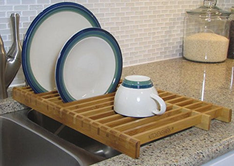 Kitchenedge Over The Sink Dish Drying Bamboo Rack