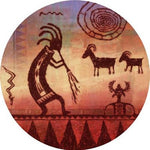 Thirstystone Ts2194 Natural Sandstone Coaster Set Kokopelli Petroglyph