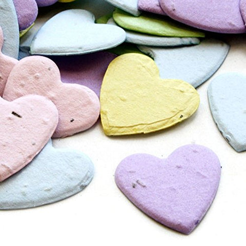 Heart Shaped Plantable Seed Confetti (Multicolored) - 350 Pieces/Bag