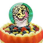 Leopard Gecko Licking Eye Cake Top Topper