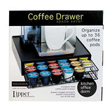 Lipper International 8662 Coffee Pod Storage Drawer With Stand, Black