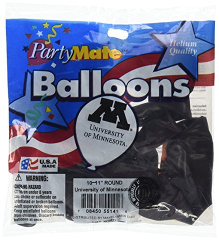 Pioneer Balloon Company 10 Count University Of Minnesota Latex Balloon, 11, Multicolor
