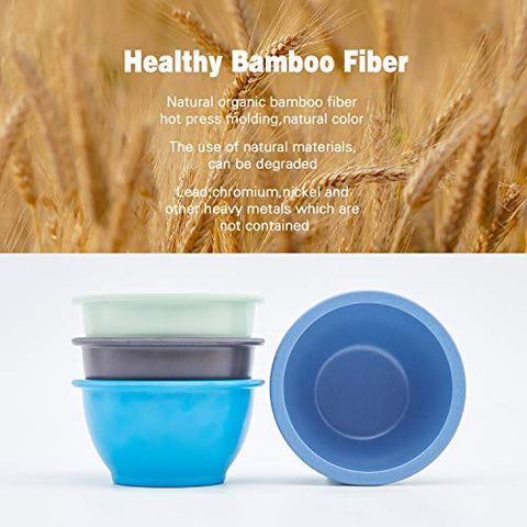 4Pcs Bamboo Kids Bowls For Baby Feedingnon Toxic &Amp; Safe Toddler Bowls,Eco-Friendly Tableware For Baby Toddler Kids Bamboo Toddler Dishes &Amp; Dinnerware Sets,(Blue, Light Blue, Green, Gray)