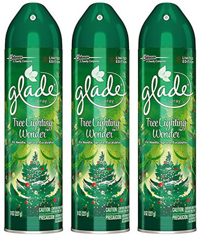 Glade Air Freshener Spray - Limited Edition - Winter Collection 2017 - Tree Lighting Wonder - Net Wt. 8 Oz (227 G) Per Can - Cans