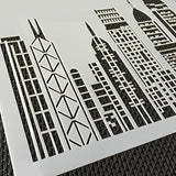 Art Kitchenware Skyscrapers Stencil For Cake Decorating Cake Border Decoration Mold St-865-3 Color Beige