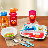 Zak! Designs Easy Grip Flatware, Children'S Spoon And Fork Featuring Cookie Monster From Sesame Street, Bpa-Free Plastic And Stainless Steel