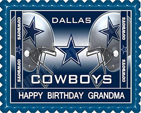 Dallas Cowboys 2 Edible Cake Topper & Cupcake Toppers - 7.5 X 10' (1/4 Sheet) Rectangular Inches
