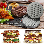 Non-Stick Burger Press, Finegood Patty Maker Aluminum Patty Mold For Bbqs Housemade Hamburger - Silver