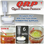 6 Qrp Mason Jar Mold-Proof Fermentation Kits Keep Food Submerged In Brine With Better Than Glass Weights Exclusive Retainer Cups (6 Wide Mouth Kits)