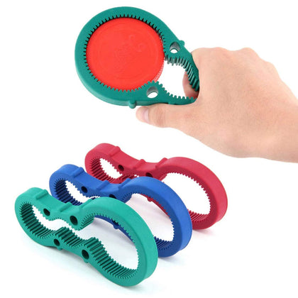 3In1 Container Bottle Jar Lid Can Opener Hand Easy Twist Kitchen Tool Silicon Jar Opener Screw Cap Jar Bottle Wrench (Red, Green, Blue Random Color)