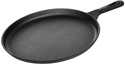 Kookantage Pre Seasoned Cast Iron Pizza Pan 10.5 Inch