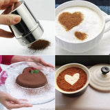 Haiabei 8 Pcs Coffee Stencils Barista Stencils Cappuccino Coffee Art Template Decorating Stencils With 1 Pcs Powder Shaker For Lovers Valentine'S Day