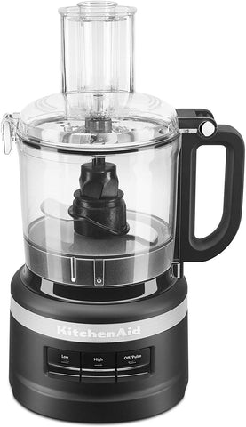 Kitchenaid Kfp0718Bm Food Processor, 7 Cup, Black Matte (Renewed)