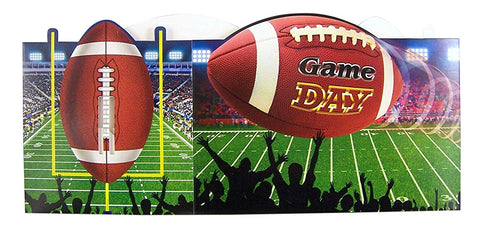 Football Game Day Birthday Party Supplies Paper Utensil Caddy Holder
