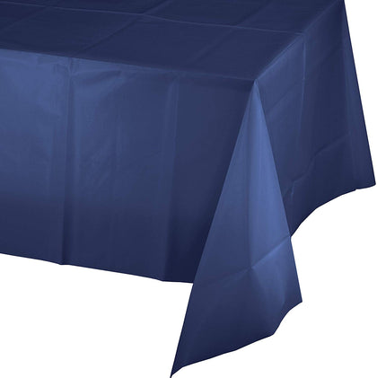 Navy Blue Plastic Tablecloths, 3 Ct