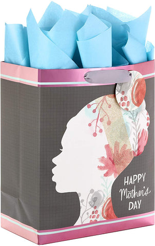 Hallmark Mahogany Large Mother'S Day Gift Bag With Tissue Paper (Floral Silhouette)