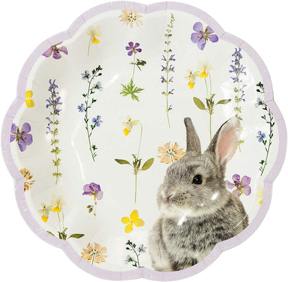 Talking Tables Tables Easter Bunny Paper Plates, Mixed Colours