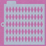 Crafter'S Workshop Cookie Stencil 2 Pack, 10 Mil Food Safe Templates For Decorating And Baking, Tcw5007 Harlequin And Tcw5021 Fan Flower