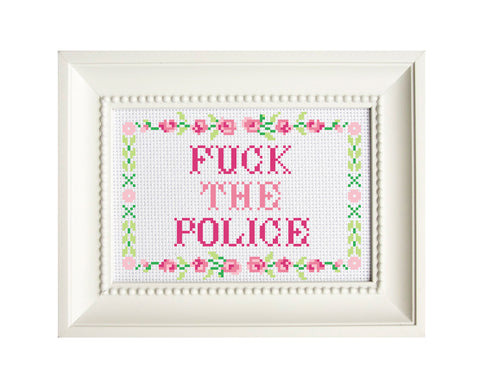 fuck the police cross stitch pattern