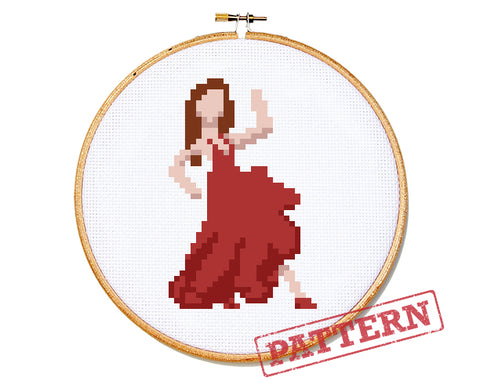 Emoji Salsa Dancer Cross Stitch Pattern