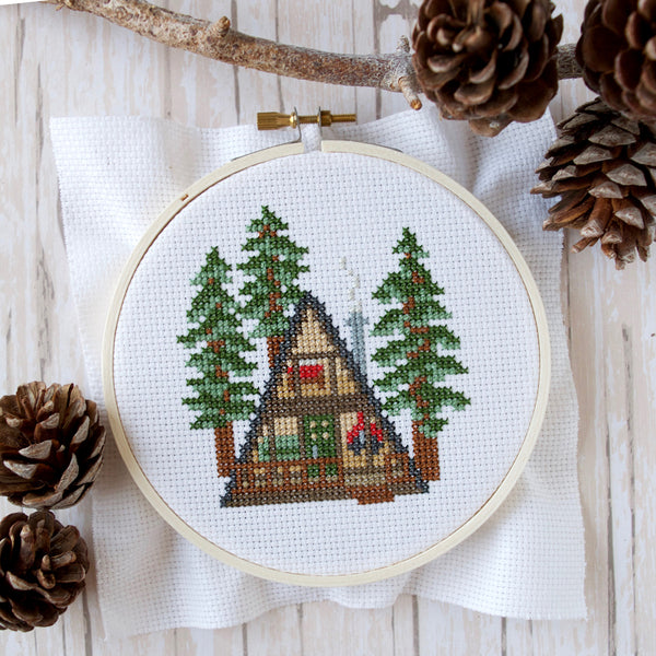 A-Frame Cross Stitch Kit