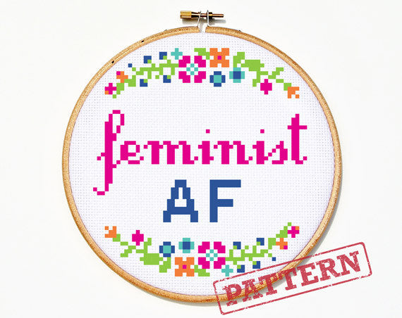 Feminist AF Cross Stitch Pattern
