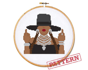 Beyonce Formation Cross Stitch Pattern