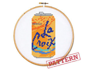 La Croix Can Orange Cross Stitch Pattern