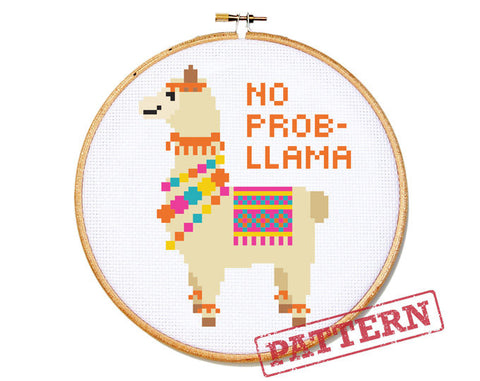 No Prob-Llama Cross Stitch Pattern