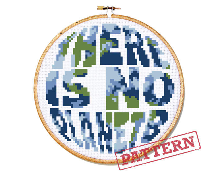 There Is No Planet B Cross Stitch Pattern