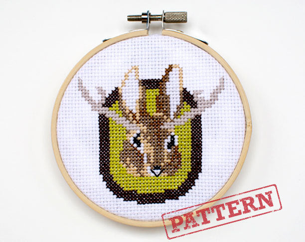 Peter Jackalope Cross Stitch Pattern