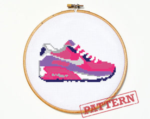 Air Max Sneaker Cross Stitch Pattern