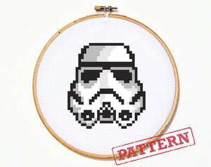 Star Wars Stormtrooper Helmet Cross Stitch Pattern