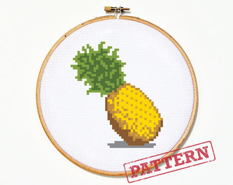 Emoji Pineapple Stitch Pattern