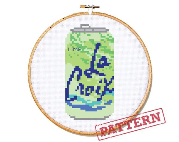La Croix Can Choose your Flavor Cross Stitch Pattern