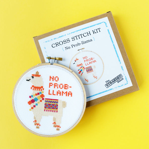 No Prob-llama Cross Stitch Kit
