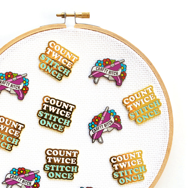 Count Twice Stitch Once Needle Minder