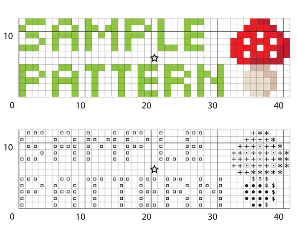 Emoji 100 Cross Stitch Pattern