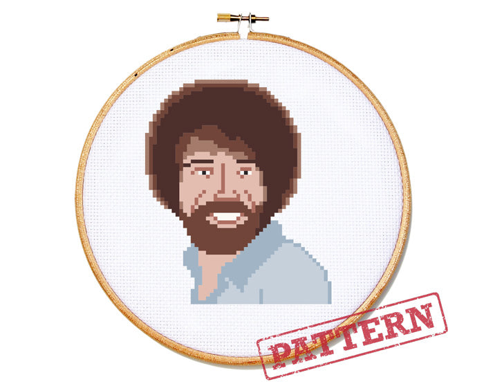 Bob Ross Cross Stitch Pattern