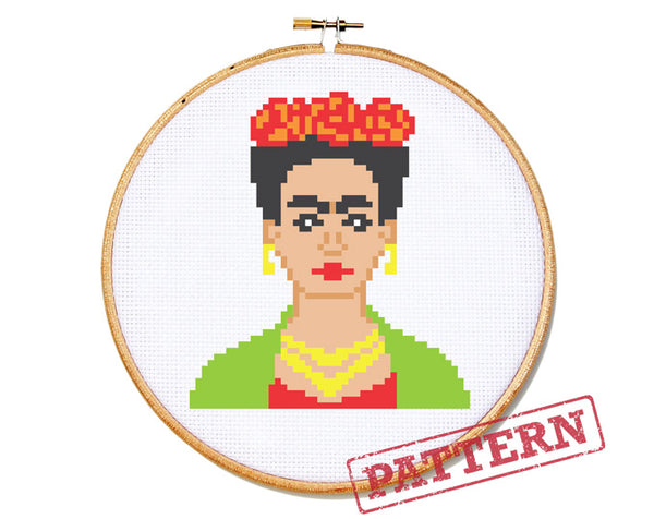 Frida Kahlo (small) Cross Stitch Pattern