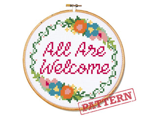 All Are Welcome Cross Stitch Pattern