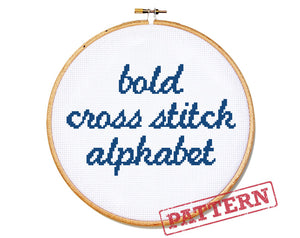 Bold Alphabet Cross Stitch Pattern