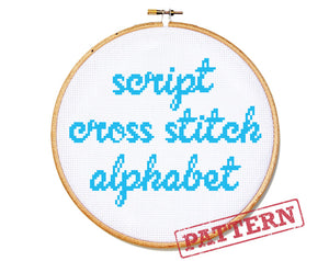 Script Alphabet Cross Stitch Pattern